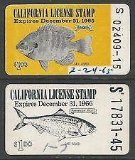California fishing license ebay for Dicks fishing license