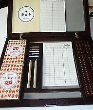 John Lewis Card Compendium in wooden box.