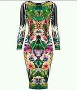 TOPSHOP Floral Long Sleeve Dress