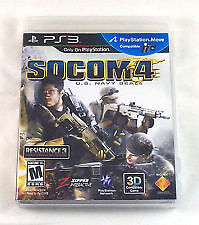 SOCOM 4: U.S. Navy SEALs (Sony Playstation 3, 2011) NEW