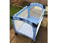 Graco Travel cot with extra mattress and new sheet-excellent condition
