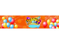 BANNERS FROM £15, Custom designed, Birthdays/Parties/Business Promos and more, Indoor/Outdoor use