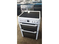 b563 white beko 60cm ceramic electric cooker comes with warranty can be delivered or collected