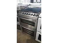 ZANUSSI BLACK & STAINLESS STEEL 55CM ELECTRIC COOKER, 4 MONTHS WARRANTY, FREE LOCAL DELIVERY