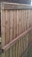LAWMAC FENCING Manufactures Fence Panels Rail Pressure Treated From £22.20 Green/Brown Leicester