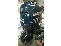 evinrude 250 hp short shaft engine low hours can be seen running