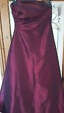 Goya (London) Prom/Evening Dress Burgundy . Size 16. Excellent condition.