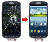 Samsung S3 S4 Note 2 Broken Glass Screen Crack Edmonton Repair