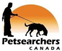 PETSEARCHERS CANADA - BLOODHOUND TRACKING SERVICE FOR LOST PETS