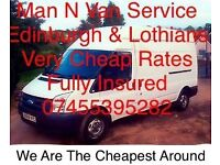 Man & Van Services, Fully Insured, Cheapest Around