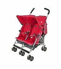 Maclaren red double stroller