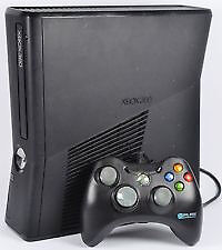 Xbox 360 Slim 4GB with power brick and a wired pad