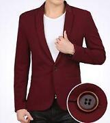 Mens Red Suit Jacket