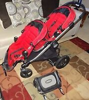 Poussette double 2 places baby jogger city select + buggy board