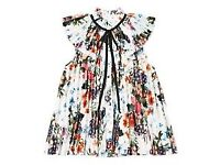 Erdem for H & M pleated floral white blouse