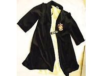 HARRY POTTER FANCY DRESS VELVET ROBE WITH GOLD LINING AGE 8/10 GREAT FOR HALLOWEEN