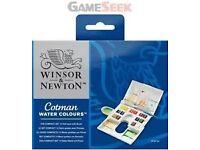 Winsor and Newton Cotman Water Colours compact set 14 half pans