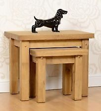New Solid Block Nest of Tables SALE £49 in stock now