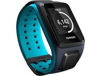 TomTom Runner 2 Cardio + Music GPS fitness watch Blue in box with tag size large