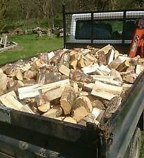 100% Hardwood logs fully seasoned. NO WET RUBBISH