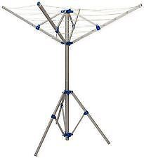 4 Arm Rotary Clothes Airer Free Standing Washing Line Portable Aluminium Camping
