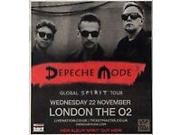 Ticket for Depeche Mode 22.11.17 London