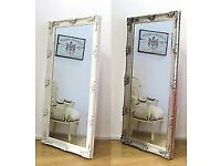 New Silver Ornate 5.5ft Abbey Leaner Mirror Half list price £99 OPEN SUNDAY 1-3pm