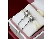 Genuine Pandora Eternal hearts safety chain 791088