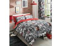 London double bedding & curtains