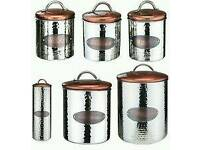 Kitchen canisters copper