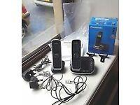 Panasonic Twin Set Digital Cordless Answering System KX-TGJ322