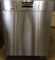 """Miele 18"""" dishwasher, stainless steel, 1 yr old, paid over $2400"""