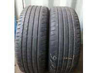2x 205/55/16 CONTINENTAL TYRES 6-7 MM TREAD EXCELLENT PART WORN TYRES(MATCHING)