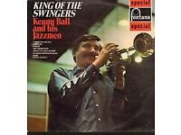 LP – KING OF THE SWINGERS – KENNY BALL AND HIS JAZZMEN - Recorded In Concert – see description