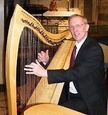 HARP sale: Professional 36-string Clarsach Dusty Strings: internal pickups, padded case. Perfect!