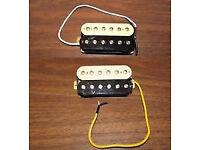 PRS 245 - pair of cream/black/nickel humbucker pickups