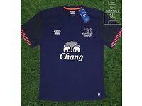 Job lot of Everton Training Kits Shirts, Shorts, Match worn shorts.