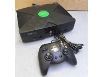 ORIGINAL BLACK XBOX CONSOLE COMPLETE