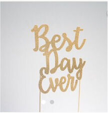 "Gold Glitter Wedding Cake Topper ""Best Day Ever"" Kawartha Lakes Peterborough Area image 2"