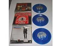 "ABOUT 45 OLD RECORDS INCLUDING 6 BLUE 7"" BY THE POLICE"