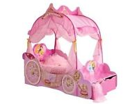 Girls disney princess carraige bed
