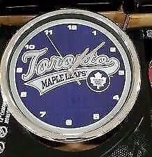 "New 12"" NHL Toronto Maple Leafs Chrome Clock"