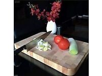 Kitchen chef solid wood proffessional heavy duty butchers chopping board