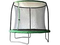 Sportspower 8ft Round Trampoline with zipped safety enclosure