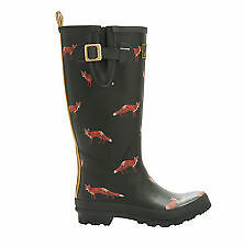 Joules green wellie boot with foxes.