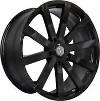 NEW! BLACK 18 rim/tire audi a4 a5 a6 BMW 350z g35 370 300 300C