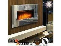 TEMPERED MIRROR GLASS WALL MOUNTED ELECTRIC FIREPLACE CONTEMPORARY FIRE HEATER ABG1364 BALMORAL