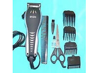 HAIR CLIPPERS NEW IN BOX ENZO CLIPPERS FULL KIT