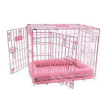 Pink puppy training crate and dog taxi/crate