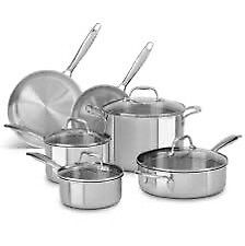 KITCHENAID 10 PIECE STAINLESS STEEL COOKWARE
